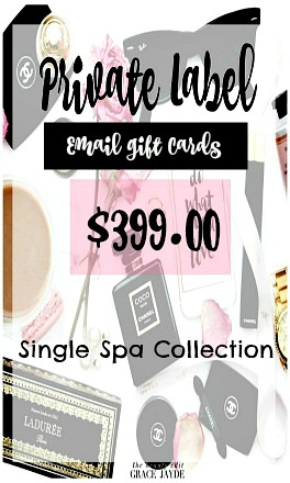 Private Label Email Gift Certificate Single Spa Collection