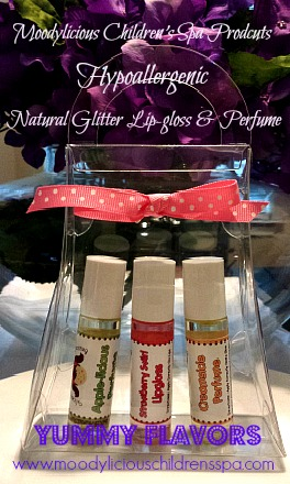 Glitter Lip-Gloss & Perfume Spa Purse